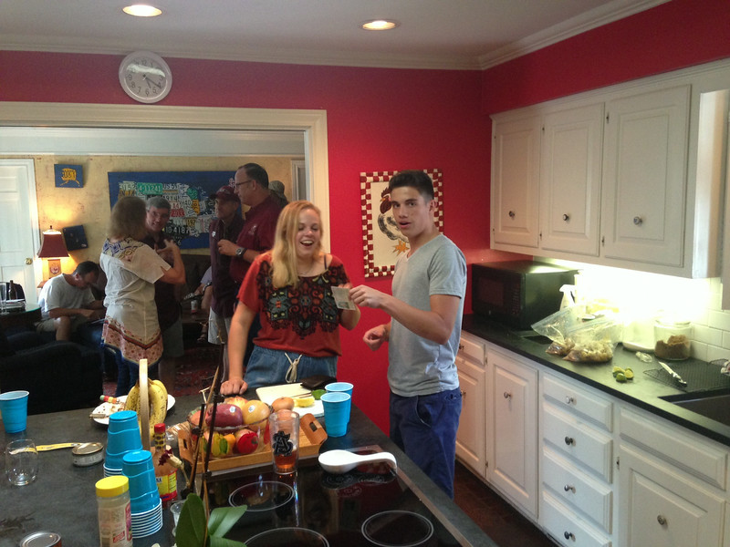 Farewell party for John & Mary Celeste Nyberg in the home Hudson & Brandi White.