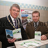 New Ulsterbus services take to the roads of Newry. Pictured with Mayor Michael Carr at the launch of the new improved Ulsterbus services in the City is Translinks District Manager Greg McLaughlin. 07W8N35