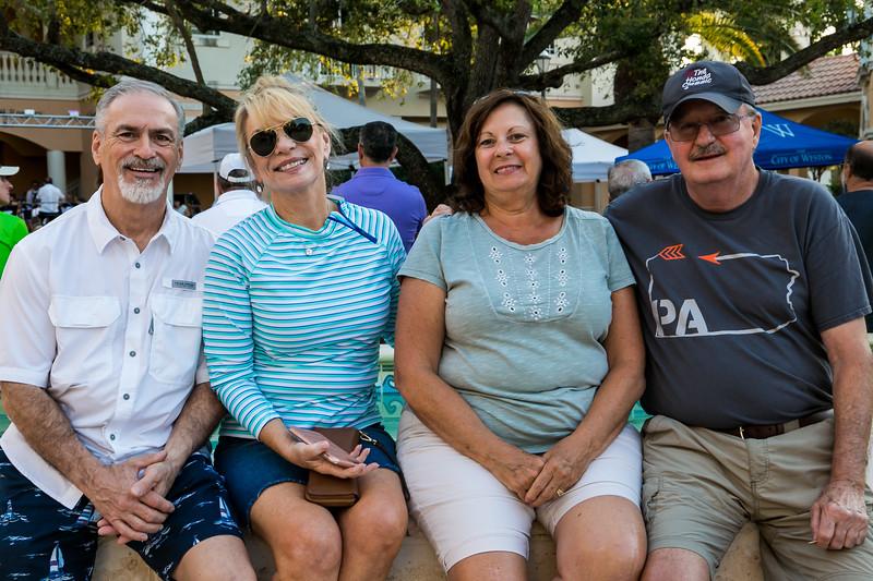 Larry True, Becky McKee, Pam and Dennis Dugan