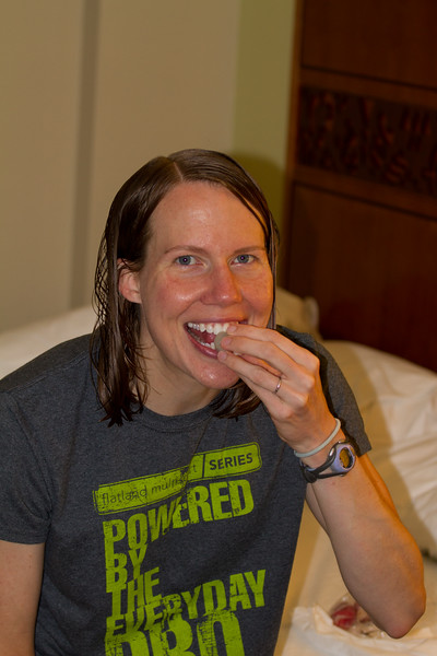 Day 4 - Thursday: Carrie snacks on Lichi