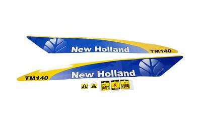 FORD NEW HOLLAND TM 140 BONNET DECAL SET