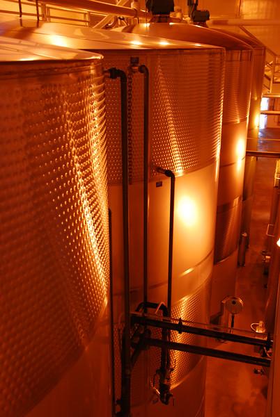 Fermenting tanks at Mumm.