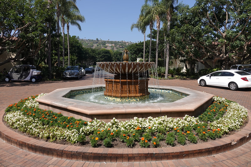 The fountains of the Terranea resort