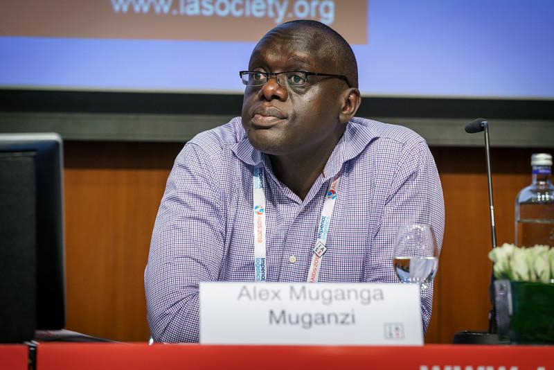 22nd International AIDS Conference (AIDS 2018) Amsterdam, Netherlands.   Copyright: Matthijs Immink/IAS Regional Members' Meeting for Africa Photo shows:  Alex Muganga Muganzi