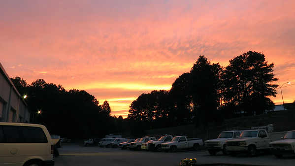 August 20:  A colorful sky .  .  .