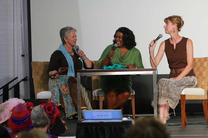 Southern Women's Show in Charlotte at the Park. Sharon Decker, Ramona Holloway, and Pam Stone from The Satisfied Life.