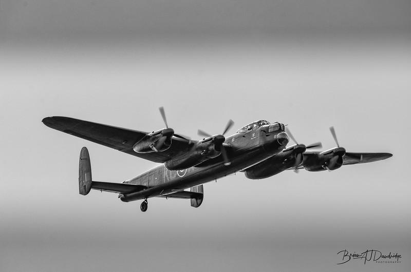 The BBMF Avro Lancaster at Shoreham Airshow, 2013