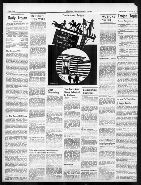 Daily Trojan, Vol. 31, No. 76, January 18, 1940