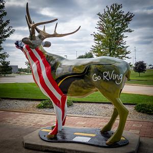 Go RVing Elk Statue