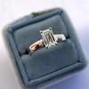 1.00ct Emerald Cut Diamond Solitaire, Platinum 10