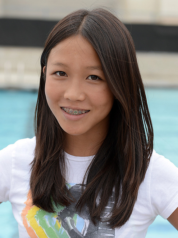. Kenisha Liu has been named to The Sun\'s All-Area Swim Team. Liu is a freshman at Ayala High School. Thomas Cordova staff photographer The Sun.