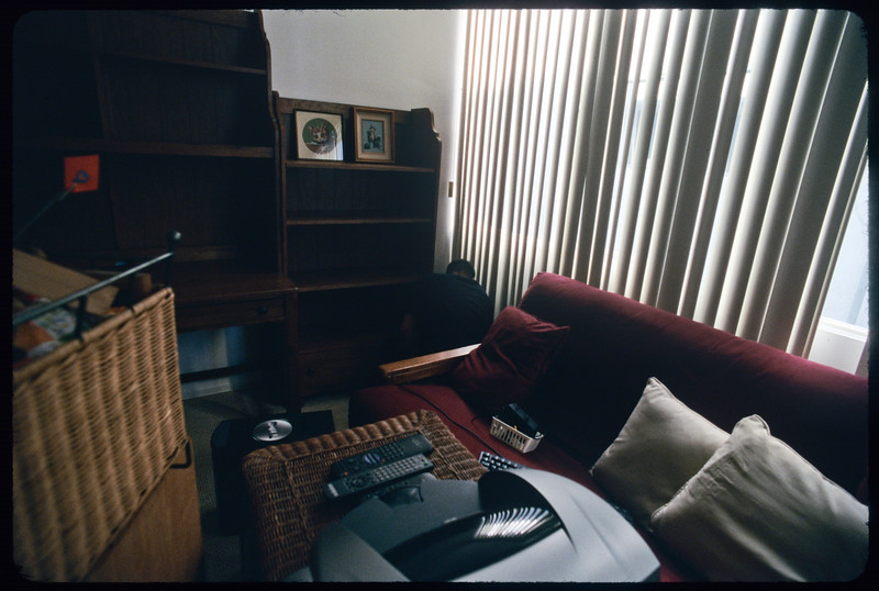 Mold examiner in Martin Krieger's apartment, 2004
