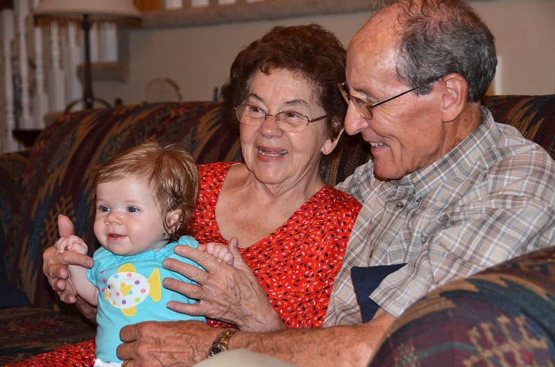2012-8-5 ––– This will be a prized picture for Aili years from now. These are my parent with her so they are her great grandparents. Hope they are around for many more years so she gets to know them. They have been great parents my entire life and I love them.