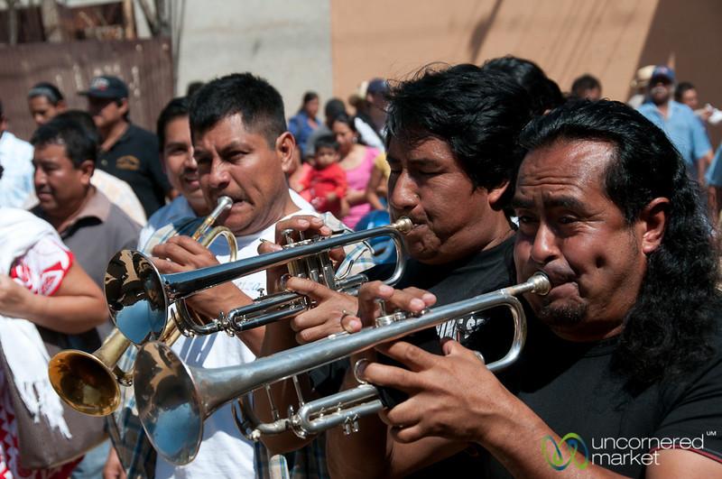 Musicans for Mardi Gras in San Martin Tilcajete, Mexico