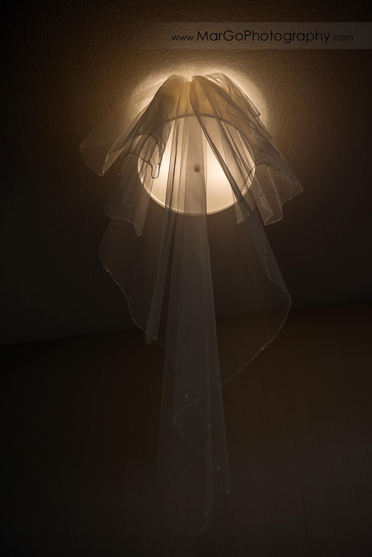 bride's veil at San Diego Hyatt Regency Mission Bay Hotel