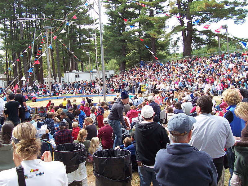 There was a crowd for the Wallenda Family Circus.