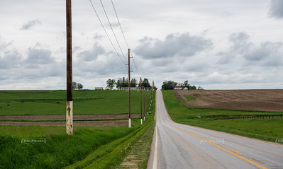 USA, IA - White Pole Road Scenic Byway