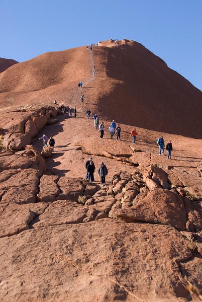 Uluru Climbers 1 - Northern Territory, Australia