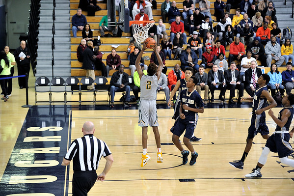 Naz Reid to Deandre Washington to Andre Rafus fast break dunk vs Pope John 1/10/2016