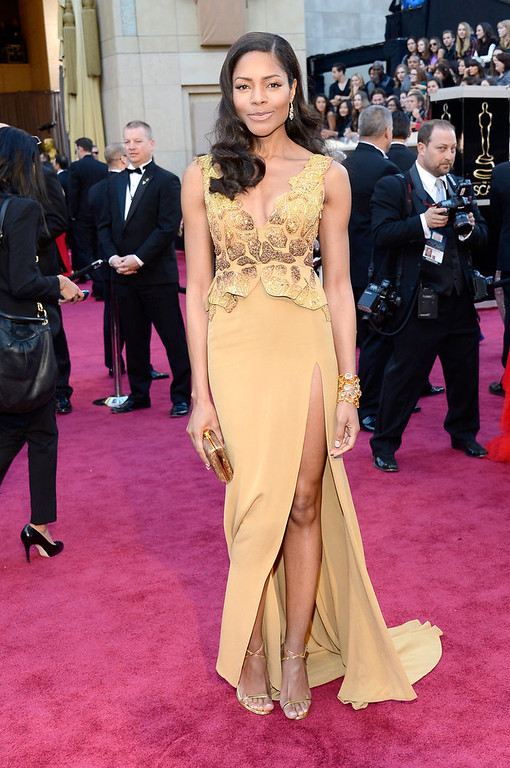 . Actress Naomie Harris arrives at the Oscars at Hollywood & Highland Center on February 24, 2013 in Hollywood, California.  (Photo by Kevork Djansezian/Getty Images)