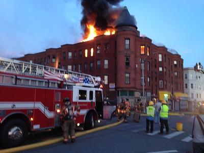 Apartment Fire - Elm St, Holyoke, MA - 6/16/14