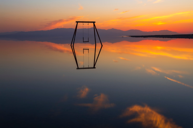 Swing Swang Swung Still Shiny Smooth Silky Salton Sea Saturday Sunset Serenity