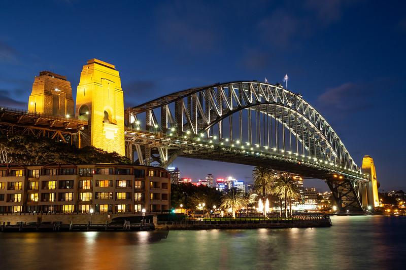 Deep Purple Sky Sydney Harbour Bridge
