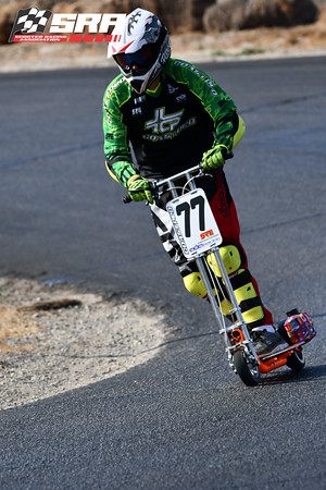 Go Ped Racer # 77 White Helmet