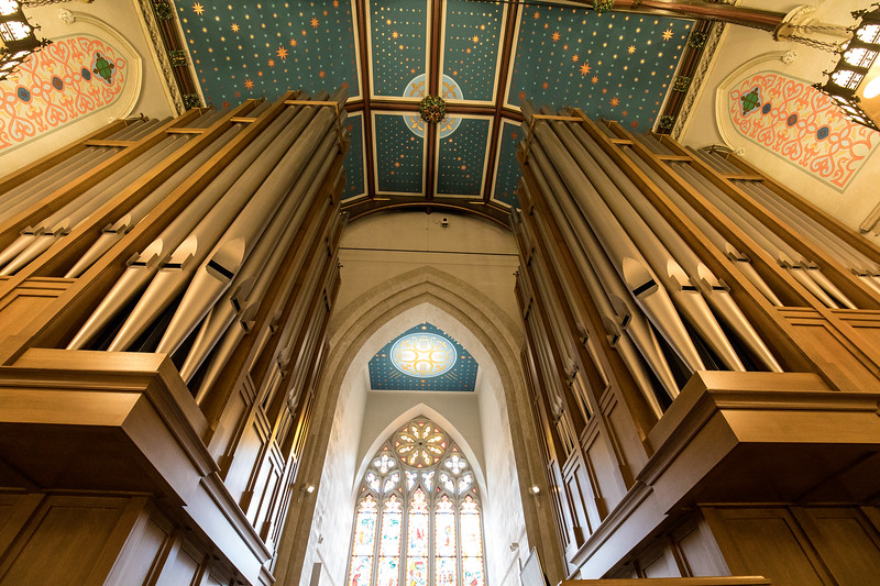 Pipe Organ Above The Balcony