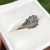 1.15ctw Emerald Cut Diamond Trilogy Ring 15