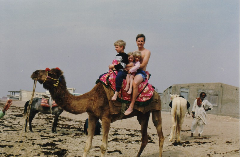 Kids on Camel, Karachi, Pakistan, circa 1990.jpg