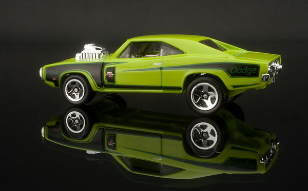Green Dodge Hot Wheels Car
