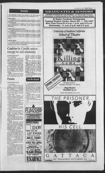Daily Trojan, Vol. 132, No. 38, October 22, 1997