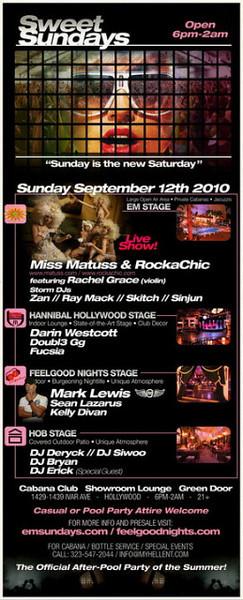 Sweet Sundays @ Cabana Club-Hollywood  9.12.10