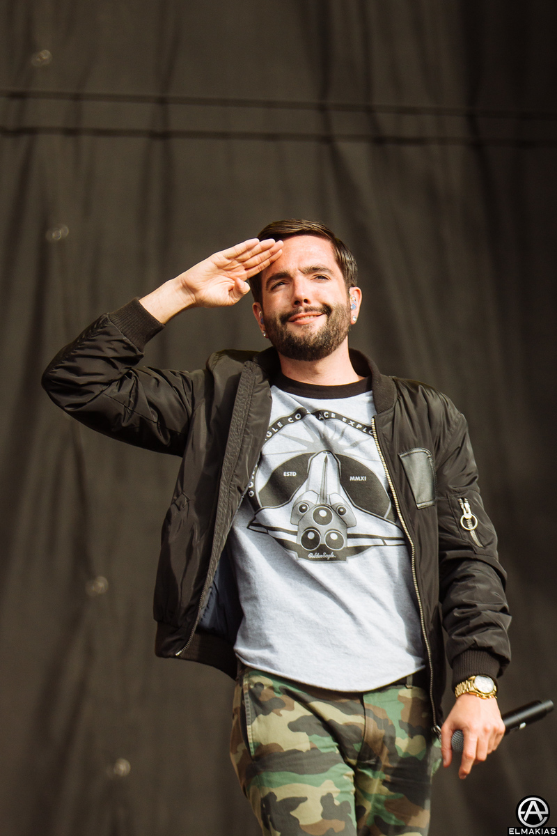 Jeremy McKinnon of A Day To Remember at Reading Festival