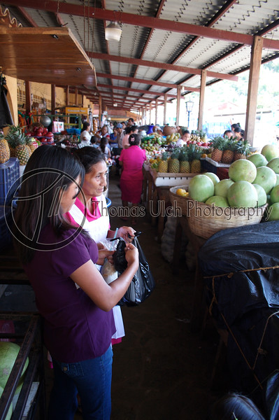 A couple of ladies doing the weekly shopping.