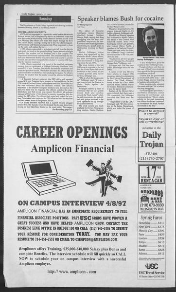 Daily Trojan, Vol. 130, No. 45, March 27, 1997