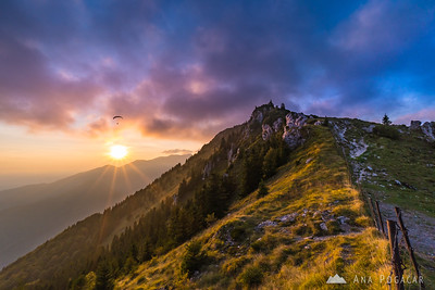 Sunset on Velika planina - Sep 16, 2018