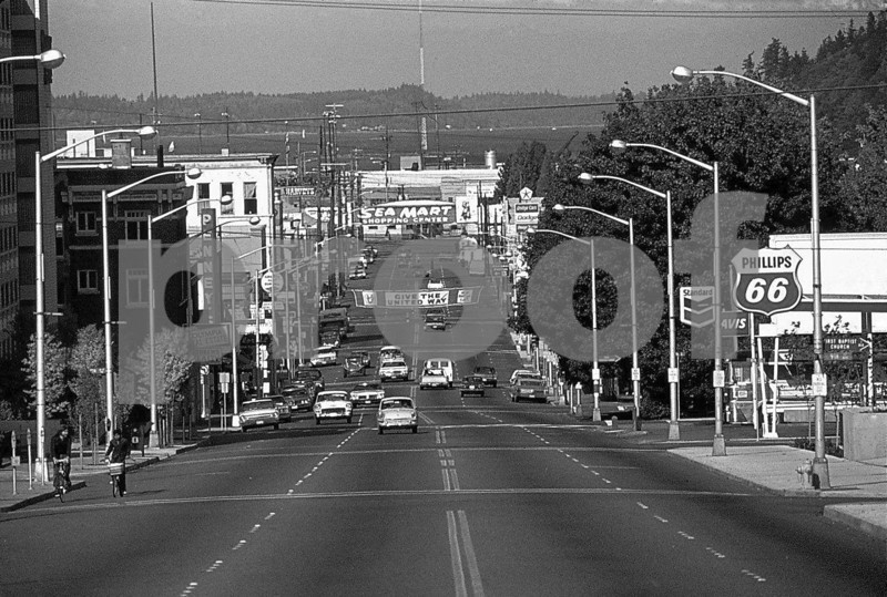The view north down Capital Way on Oct. 19, 1973.