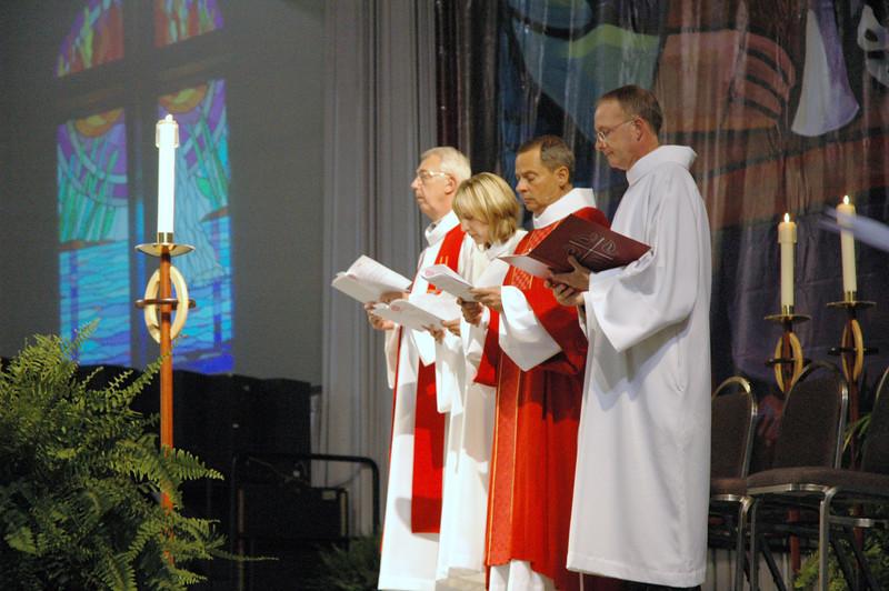 Worship leaders during opening worship