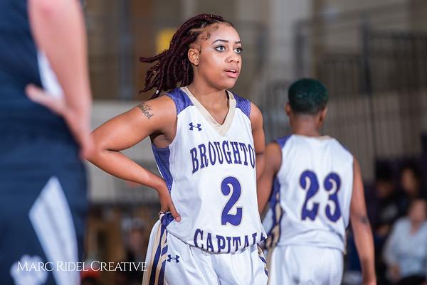 Broughton girls varsity basketball vs Millbrook. February 15, 2019. 750_7334