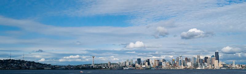 Seattle Skyline from the Bainbridge Ferry