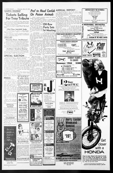 Daily Trojan, Vol. 57, No. 97, March 30, 1966