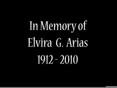 Elvira Arias Memorial March 2010