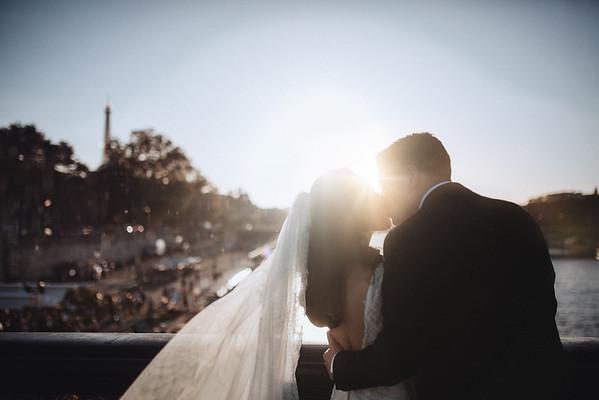 J + D | Intime Hochzeit in Paris, Frankreich