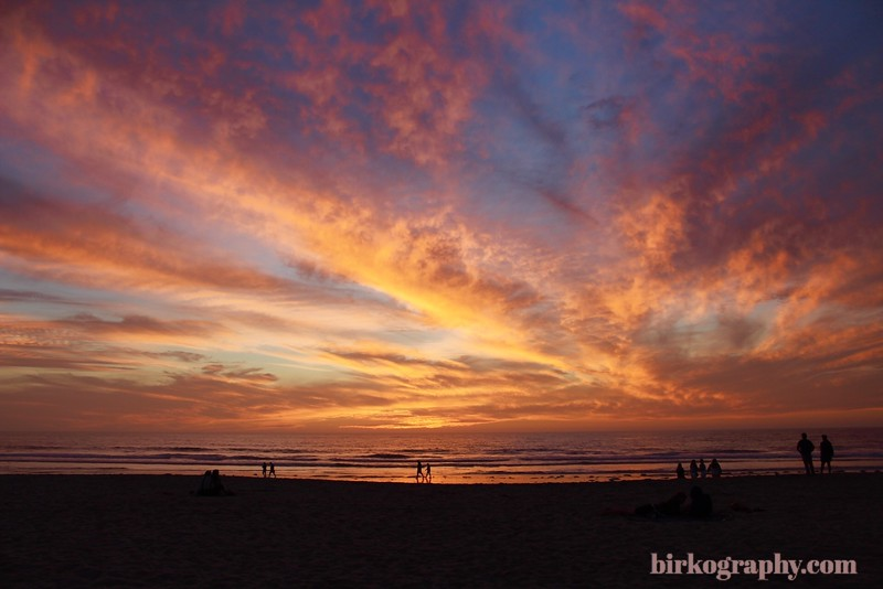 Sunset from mission beach California