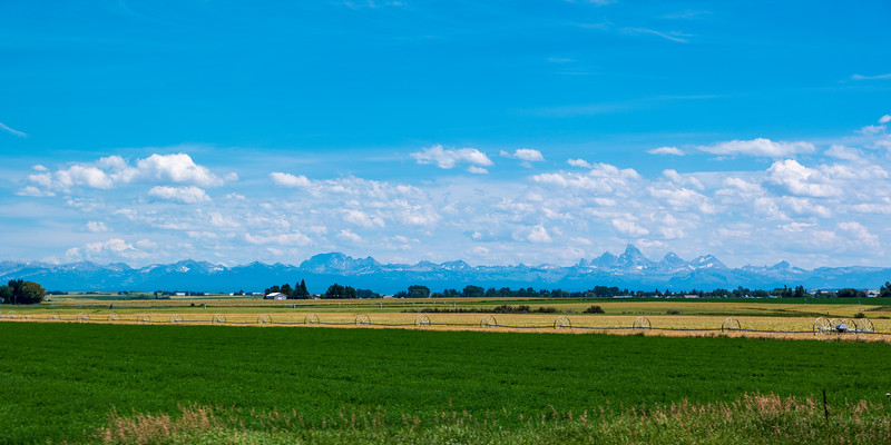 Tetons From Near Chester, ID