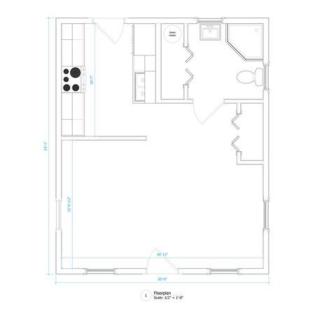Studio - 435 sqft