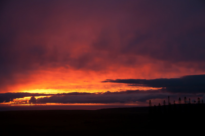 Sunset in Lanai, Hawaii