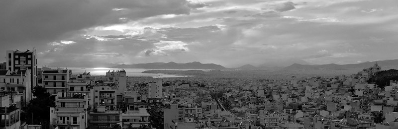 Panoramic view from Kareas, Athens (2007)